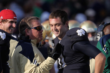 Brian Kelly Tommy Rees Navy v Notre Dame