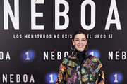 Raquel Sanchez Silva attends 'Neboa' premiere at the Capitol cinema on January 13, 2020 in Madrid, Spain.