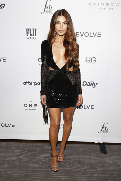 The Daily Front Row 7th Annual Fashion Media Awards [clothing,fashion model,dress,fashion,cocktail dress,little black dress,shoulder,leg,long hair,footwear,negin mirsalehi,daily front row 7th annual fashion media awards,new york city,the daily front row]