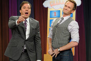 "Host Jimmy Fallon and Neil Patrick Harris visit ""Late Night With Jimmy Fallon"" at Rockefeller Center on July 27, 2011 in New York City."