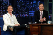 "Neil Patrick Harris and host Jimmy Fallon visit ""Late Night With Jimmy Fallon"" at Rockefeller Center on June 7, 2013 in New York City."