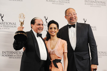 Subhash Chandra Nespresso Press Room At The 39th International Emmy Awards
