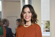 Mandy Moore attends NET-A-PORTER cocktail to celebrate a collection of high jewelry on July 03, 2019 in Paris, France.