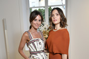 Alison Loehnis and Mandy Moore attend NET-A-PORTER cocktail to celebrate a collection of high jewelry on July 03, 2019 in Paris, France.