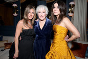 (L-R) Jennifer Aniston, Glenn Close and Sandra Bullock attend the Netflix 2020 Golden Globes After Party at The Beverly Hilton Hotel on January 05, 2020 in Beverly Hills, California.