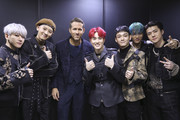 EXO Members and Ryan Reynolds(3L) attends the world premiere of Netflix's '6 Underground' at Dongdaemun Design Plaza on December 02, 2019 in Seoul, South Korea.