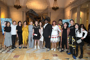 "(L-R) Amy Okuda, Keir Gilchrist, Mary Rohlich, Robia Rashid, Jenna Boyd, Tal Anderson, Fivel Stewart, Domonique Brown, Layla Weiner, Nik Dodani, Spencer Harte, Brigette Lundy-Paine, and Naomi Rubin attend Netflix ""Atypical"" Season 3 special screening at Natural History Museum on October 28, 2019 in Los Angeles, California."