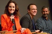 "Actress Michelle Dockery, Composer Carlos Rafael Rivera and Cinematographer Steven Meizler speak onstage Netflix Celebrates 12 Emmy Nominations For ""Godless"" at DGA Theater on August 9, 2018 in Los Angeles, California."