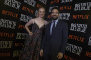 Deborah Ann Woll and Charlie Cox pose during Netflix Distrito Salvaje Premiere on October 10, 2018 in Bogota, Colombia.