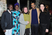 "(L-R) Maxwell Simba,  Aissa Maiga, Alexa L. Fogel, Chiwetel Ejiofor, Andrea Calderwood attend the Netflix film ""The Boy Who Harnessed The Wind"" Sundance Film Festival Park City screening reception at Handle on January 26, 2019 in Park City, Utah."