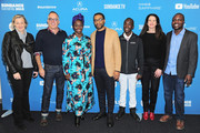 "(L-R) Gail Egan, Sundance Film Festival Director John Cooper,  Aissa Maiga, Chiwetel Ejiofor, Maxwell Simba, Andrea Calderwood, and William Kamkwamba attend the Netflix film ""The Boy Who Harnessed The Wind"" Sundance Film Festival Park City screening at The Ray Theatre on January 26, 2019 in Park City, Utah."