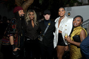 """(L-R) Tyran """"Ty Ty"""" Smith, Laverne Cox, Shaun Ross, EJ Johnson and Sharon Chuter attend Netflix Hollywood Tastemaker at San Vicente Bungalows on February 23, 2020 in West Hollywood, California."""