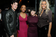 (L-R) Jake Picking, Janet Mock, Alexis Martin Woodall, and Laverne Cox attend Netflix Hollywood Tastemaker at San Vicente Bungalows on February 23, 2020 in West Hollywood, California.