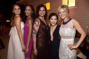 """Debby Ryan, Erinn Westbrook, Lauren Gussis, Irene Choi and Arden Myrin attend the after party for the Season 1 premiere of Netflix's """"Insatiable"""" on August 9, 2018 in Los Angeles, California."""