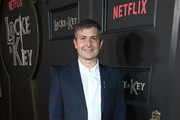 """Michael Morris attends Netflix's """"Locke & Key"""" series premiere photo call at the Egyptian Theatre on February 05, 2020 in Hollywood, California."""