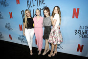 """(L-R) Addison Easterling, Lilia Buckingham, Anna Cathcart, and Annie LeBlanc attend the Netflix Premiere of """"All the Bright Places"""" on February 24, 2020 in Hollywood, California."""