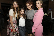 "(L-R) Annie LeBlanc, Hayley LeBlanc, Anna Cathcart, and Lilia Buckingham attend the Netflix Premiere of ""All the Bright Places"" on February 24, 2020 in Hollywood, California."