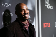 """Mehcad Brooks attends the Netflix Premiere for Tyler Perry's """"A Fall From Grace"""" at Metrograph on January 13, 2020 in New York City."""
