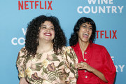 """Michelle Buteau and Sunita Mani attend the Netflix Premiere of """"Wine Country"""" on May 08, 2019 in New York City."""