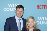 "Morgan Sackett and Amy Poehler attend the Netflix Premiere of ""Wine Country"" on May 08, 2019 in New York City."