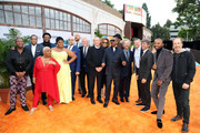 "(L-R) Ron Cephas Jones, Da'Vine Joy Randolph, Luenell, Craig Brewer, Keegan-Michael Key, Craig Robinson, Mike Epps, Eddie Murphy, Wesley Snipes, Tituss Burgess, and Bob Odenkirk attend the ""Dolemite Is My Name"" premiere presented by Netflix on September 28, 2019 in Los Angeles, California."