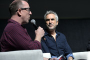 Glenn Kiser and Alfonso Cuarón speak onstage at the Netflix 'Roma' Experience at Raleigh Studiods on December 09, 2018 in Los Angeles, California.