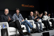 Skip Lievsay, Craig Henighan, Jose Antonio Garcia, Adam Gough and Lynn Fainchtein speak onstage at the Netflix 'Roma' Experience at Raleigh Studiods on December 09, 2018 in Los Angeles, California.