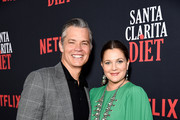 "Timothy Olyphant and Drew Barrymore attend Netflix's ""Santa Clarita Diet"" Season 3 Premiere at Hollywood Post 43 on March 28, 2019 in Los Angeles, California."