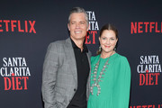 Timothy Olyphant and Drew Barrymore attend Netflix's 'Santa Clarita Diet' Season 3 Premiere at Hollywood Post 43 on March 28, 2019 in Los Angeles, California.
