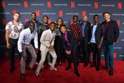 "Freddy Miyares, Michael K. Williams, Jovan Adepo, Jharrel Jerome, Caleel Harris, Niecy Nash, Asante Blackk, Chris Chalk, Justin Cunningham, Ethan Herisse and Joshua Jackson attend the Netflix ""When They See Us"" FYSEE Event at Raleigh Studios on June 09, 2019 in Los Angeles, California."