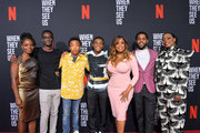 Marsha Stephanie Blake, Ethan Herisse, Asante Blackk, Caleel Harris, Niecy Nash, Jharrel Jerome and Aunjanue Ellis attend Netflix's 'When They See Us' Screening & Reception at Paramount Theater on the Paramount Studios lot on August 11, 2019 in Hollywood, California.