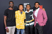 Ethan Herisse, Asante Blackk, Caleel Harris and Jharrel Jerome attend Netflix's 'When They See Us' Screening & Reception at Paramount Theater on the Paramount Studios lot on August 11, 2019 in Hollywood, California.