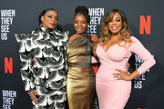 Aunjanue Ellis, Marsha Stephanie Blake and Niecy Nash attend Netflix's 'When They See Us' Screening & Reception at Paramount Theater on the Paramount Studios lot on August 11, 2019 in Hollywood, California.