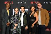Keith Powers, Jane Levy, Juan Castano, Daniella Pineda and Blake Jenner attend Netflix's 'WHAT / IF' Special Screening at The London West Hollywood on May 16, 2019 in West Hollywood, California.