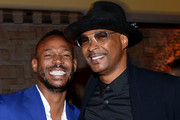 Marlon Wayans and Damon Wayans attend the afterparty for the  Netflix World Premiere Of 'Sextuplets' at Le Jardin on August 07, 2019 in Hollywood, California.