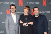 """(L-R) Jonathan King, Jane Rosenthal and Berry Welsh attend Netflix's FYSEE event for """"When They See Us"""" at Netflix FYSEE at Raleigh Studios on June 09, 2019 in Los Angeles, California."""