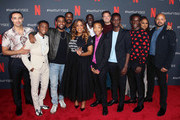 "(L-R) Freddy Miyares, Caleel Harris, Jharrel Jerome, Jovan Adepo, Niecy Nash, Michael K. Williams, Asante Blackk, Joshua Jackson, Ethan Herisse, Chris Chalk, Ava DuVernay and  Justin Cunningham attend Netflix'x FYSEE event for ""When They See Us"" at Netflix FYSEE at Raleigh Studios on June 09, 2019 in Los Angeles, California."