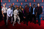 "Freddy Miyares, Michael K. Williams, Jovan Adepo, Jharrel Jerome, Caleel Harris, Niecy Nash, Asante Blackk, Chris Chalk, Justin Cunningham, Ethan Herisse and Joshua Jackson  attend Netflix'x FYSEE event for ""When They See Us"" at Netflix FYSEE At Raleigh Studios on June 09, 2019 in Los Angeles, California."
