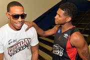 Manager Team Ludacris and Manager Team Usher during Neuro Drinks At LudaDay Weekend Celebrity Basketball Game at GSU Sports Arena on September 1, 2013 in Atlanta, Georgia.