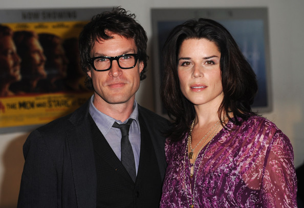 John Light and Neve Campbell - BFI London Film Festival: The Men Who Stare ...