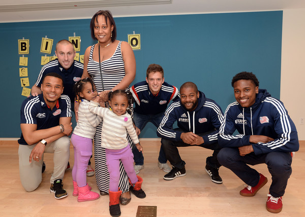 New England Revolution Players Spread Cheer to Patients at Boston Children's Hospital - 1 of 4