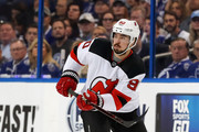 Marcus Johansson #90 of the New Jersey Devils looks up ice against the Tampa Bay Lightning in the first period of Game Five of the Eastern Conference First Round during the 2018 NHL Stanley Cup Playoffs at Amalie Arena on April 21, 2018 in Tampa, Florida. (Photo by Mike Carlson/Getty Images) *** Local Caption *** Marcus Johansson