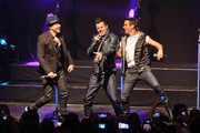 Donnie Wahlberg, Jordan Knight, and Joey McIntyre of New Kids On The Block perform at Gramercy Theatre on February 15, 2015 in New York City.