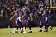 Quarterback Joe Flacco #5 of the Baltimore Ravens walks off the field in the fourth quarter against the New Orleans Saints at M&T Bank Stadium on October 21, 2018 in Baltimore, Maryland.