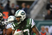 Chris Ivory #33 of the New York Jets in action against the New Orleans Saints during their game at MetLife Stadium on November 3, 2013 in East Rutherford, New Jersey.