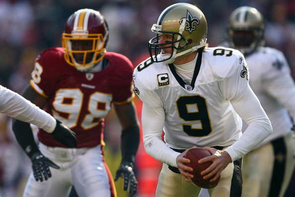 Drew Brees vs. the Redskins in 2009