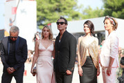 """Massimo Ghini, Ludivine Sagnier, Jude Law,  Yulia Snigir and Cécile de France walk the red carpet ahead of """"The New Pope"""" screening during the 76th Venice Film Festival at Sala Grande on September 01, 2019 in Venice, Italy."""