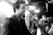 """This image has been shot in black and white. No color version available.) Beau Mirchoff attends the New Starz Series """"Now Apocalypse"""" premiere at Hollywood Palladium on February 27, 2019 in Los Angeles, California."""
