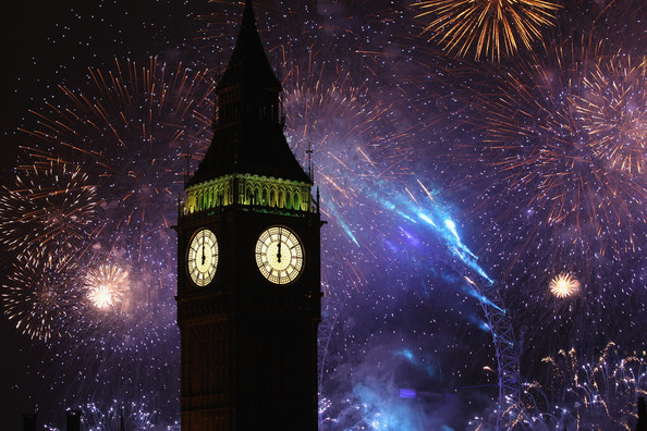Fireworks light up the London skyline and Big Ben just after midnight on January 1, 2011 in London, England. Thousands of people lined the banks of the River Thames in central London to see in the New Year with a spectacular fireworks display.