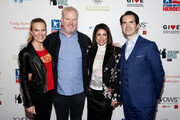 Jeannie Gaffigan, Jim Gaffigan, Caroline Hirsch and Jimmy Carr attend The New York Comedy Festival and The Bob Woodruff Foundation present the 12th Annual Stand Up For Heroes event at The Hulu Theater at Madison Square Garden on November 5, 2018 in New York City.